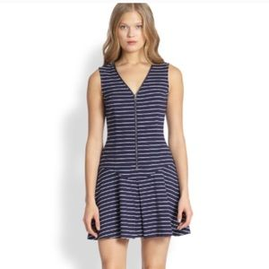 THEORY SAY-I ZIP FRONT JERSEY DRESS